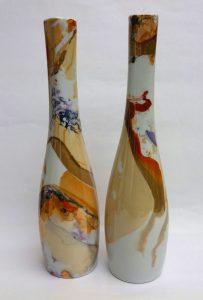 peinture-sur-porcelaine-atelier-du-pivert-creations-soliflores-colletion-jeux-ambre